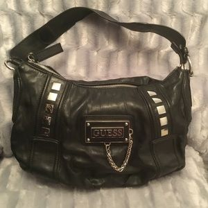 Guess black leather purse.